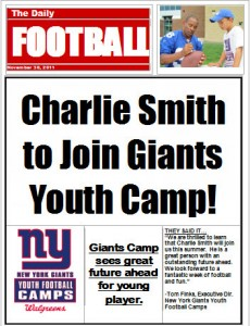 Camp Gift, Headline News New York Giants