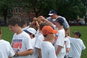Bears Youth Camp Group Huddle