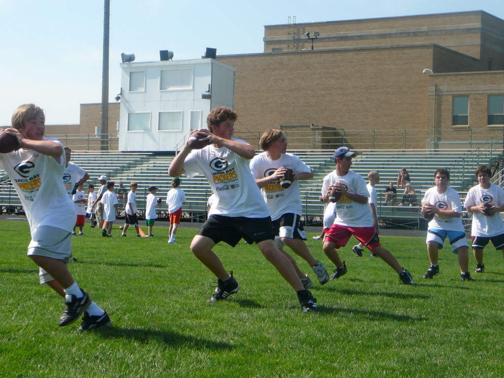 NFL Punt, Pass  Kick Competitions at All Youth Camp Camps!  Pro Sports Experience